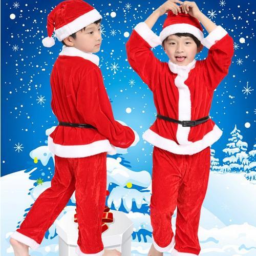 サンタ コスチューム キッズ 子供用 帽子付き クリスマス サンタクロース コスプレ 衣装 サンタコスプレ コスチューム ハロウィン 防寒 キッズ 衣装 男の子 女の子 仮装 子供
