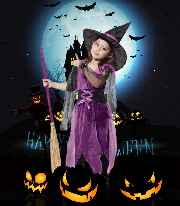 ハロウィン 衣装 子供 コスプレ 子供ドレス ワンピース Halloween 仮装 イベント お姫様 魔女 子供 可愛い