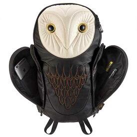 アニマルバッグ モーン Hug.FACTORY The owls メンフクロウバックパック BO-101 リュックサック MORN ジッパー付き ショルダーストラップ 撥水加工ナイロン 大人リュック アニマル柄 ナップザック レディースバッグ 入学式 入社式 卒業式 ギフト【gwtravel_d19】