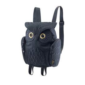 アニマルバッグ モーン Hug.FACTORY The owls ミミズククラッシックレディースフランネル OW-326 リュックサック MORN ジッパー付き ショルダーストラップ 撥水加工ナイロン 大人リュック アニマル柄 ナップザック レディースバッグ 入学式 入社式 卒業式 ギフト