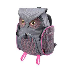 アニマルバッグ モーン Hug.FACTORY The owls ミミズククラッシックバックパックLサイズ OW-311 リュックサック MORN ジッパー付き ショルダーストラップ 撥水加工ナイロン 大人リュック アニマル柄 ナップザック レディースバッグ 入学式 入社式 卒業式 ギフト