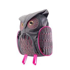 アニマルバッグ モーン Hug.FACTORY The owls ミミズククラッシックバックパックMサイズ OW-312 リュックサック MORN ジッパー付き ショルダーストラップ 撥水加工ナイロン 大人リュック アニマル柄 ナップザック レディースバッグ 入学式 入社式 卒業式 ギフト