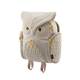 アニマルバッグ モーン Hug.FACTORY The owls ミミズククラッシックバックパックフランネル OW-322 リュックサック MORN ジッパー付き ショルダーストラップ 撥水加工ナイロン 大人リュック アニマル柄 ナップザック レディースバッグ 入学式 入社式 卒業式 ギフト
