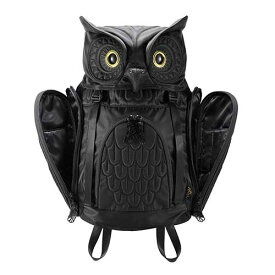 アニマルバッグ モーン Hug.FACTORY The owls ミミズクバックパックMサイズ OW-112 リュックサック MORN ジッパー付き ショルダーストラップ 撥水加工ナイロン 大人リュック アニマル柄 ナップザック レディースバッグ 入学式 入社式 卒業式 ギフト
