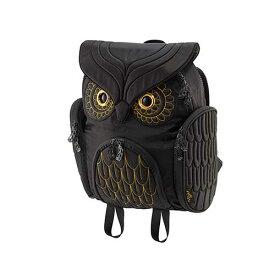 アニマルバッグ モーン Hug.FACTORY The owls ミミズクバックパックゴールドエンブロ OW-382 リュックサック MORN ジッパー付き ショルダーストラップ 撥水加工ナイロン 大人リュック アニマル柄 ナップザック レディースバッグ 入学式 入社式 卒業式 ギフト