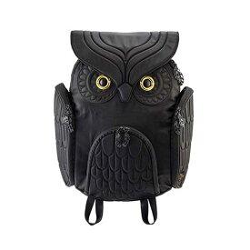 アニマルバッグ モーン Hug.FACTORY The owls ミミズクバックパックLサイズ OW-301 リュックサック MORN ジッパー付き ショルダーストラップ 撥水加工ナイロン 大人リュック アニマル柄 ナップザック レディースバッグ バッグ 入学式 入社式 卒業式 プレゼント