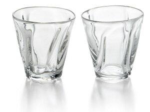 〔手作り ガラス食器〕クリアグラスが新登場!ファインフロウ ペアロック【炭酸水】