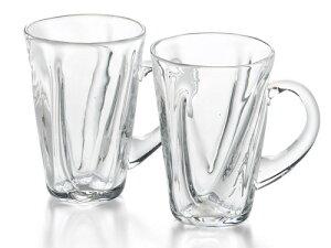〔手作り グラス ガラス食器〕クリアグラスが新登場!ファインフロウ ペアマグカップ【炭酸水】