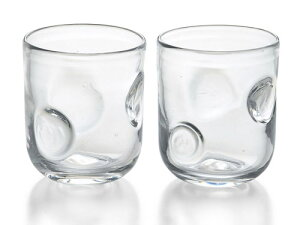 〔手作り グラス ガラス食器〕透明グラスが新登場!ファインリップル 手作りペアロック【炭酸水】
