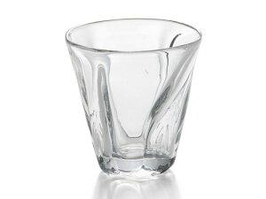 〔手作り ガラス食器〕ファインフロウ ロックグラス1P(クリア)【炭酸水】