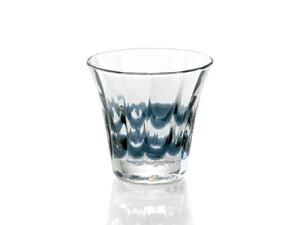 〔手作り ガラス食器〕サイドのラインが美しい群青 ロックグラス1P【炭酸水】
