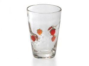 世界に一つ!あなただけのグラスです♪「手作り」のガラス食器スイートベリー ハイカップ(1P)【炭酸水】