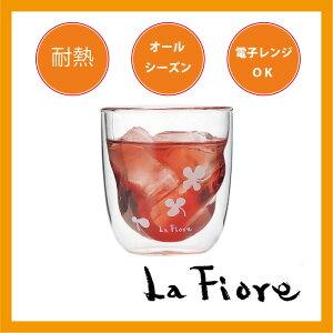 二重構造で飲み物が立体的に見える芸術的な耐熱グラスエアウォール ロック グラス C【炭酸水】
