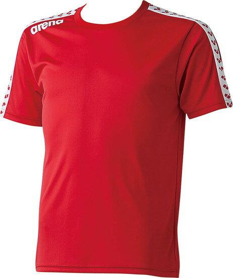 17SS ARENA(アリーナ) チームラインTシャツレッド ARN6331-RED 【RCP】 【送料無料】