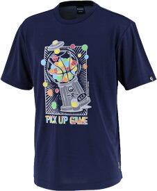 CONVERSE(コンバース) バックコートエディション プリントTシャツ 裾ラウンド メンズ バスケットボールウェア CBE282320-2900