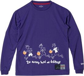 SPALDING(スポルディング) L/S 長袖 Tシャツ STORY DRIBBLE バスケット SMT181230-9000