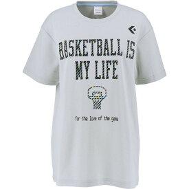 CONVERSE(コンバース) ウィメンズプリントTシャツ バスケット CB392301-1300 レディース