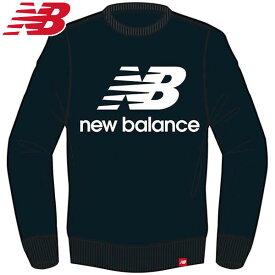 ニューバランス(new balance) エッセンシャルスタックドロゴクルー AMT91548BK メンズ ランニングウェア AMT91548-BK