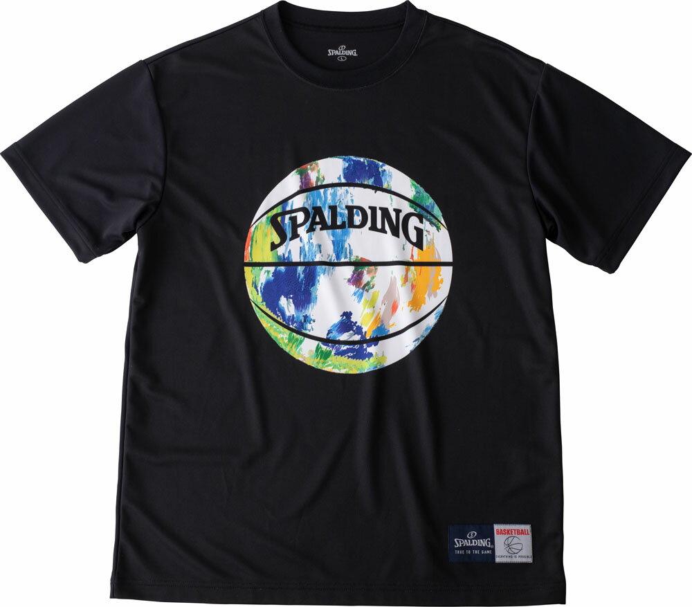 SPALDING(スポルディング) Tシャツ マーブル バスケット Tシャツ SMT190200-BLKMLT