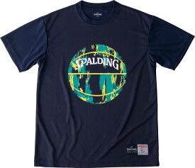 SPALDING(スポルディング) Tシャツ マーブル バスケット Tシャツ SMT190200-NVYGRN
