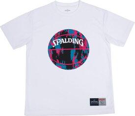 SPALDING(スポルディング) Tシャツ マーブル バスケット Tシャツ SMT190200-WHTPNK
