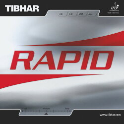 TIBHAR(ティバー)卓球ラバーラピッド赤1.8mmBT016043