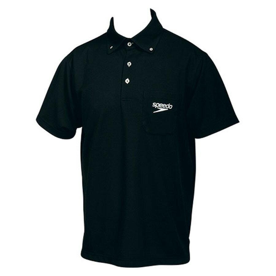 Speedo(スピード) ポロシャツブラック【ユニセックス】 [ SD14S01-K ]