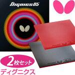 【お得な2枚セット】Butterfly(バタフライ)卓球ラバーディグニクス05(DIGNICS)タマスBF-06040(あす楽即納)