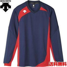 デサント(DESCENTE) 男女兼用 バレーボール用ウェア 長袖ゲームシャツ DSS-4710-NVY