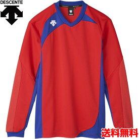 デサント(DESCENTE) 男女兼用 バレーボール用ウェア 長袖ゲームシャツ DSS-4710-RED