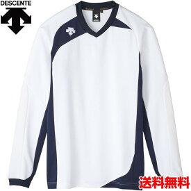 デサント(DESCENTE) 男女兼用 バレーボール用ウェア 長袖ゲームシャツ DSS-4710-WHT