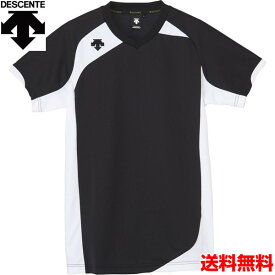 デサント(DESCENTE) 男女兼用 バレーボール用ウェア 半袖ゲームシャツ DSS-4720-BLK