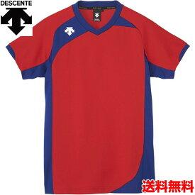 デサント(DESCENTE) 男女兼用 バレーボール用ウェア 半袖ゲームシャツ DSS-4720-RED