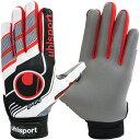 ウールシュポルト(uhlsport) FUTSAL フルフィンガー スターターソフト ホワイト×ブラック×レッド サッカー 手袋 1…
