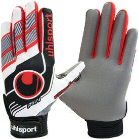 ウールシュポルト(uhlsport) FUTSAL フルフィンガー スターターソフト ホワイト×ブラック×レッド サッカー 手袋 1000856-01