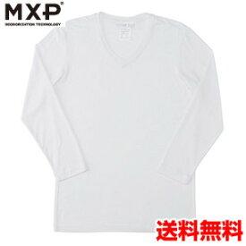 エムエックスピー(MXP) Vネック8分袖シャツ(メンズ) MX15342-W2