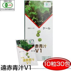 遠赤青汁 V1 10粒×30包 1016野菜不足を感じる人にケール100% 無添加 ビタミン ミネラル 食物繊維