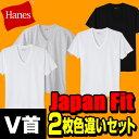 ヘインズ(Hanes) 【2枚組 色違い】ジャパンフィット Japan Fit Vネック Tシャツ H5125 アソート