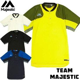 マジェスティック(Majestic)オーセンティック テック 2ボタン トレーニング SS Tシャツ XM01MAJ023