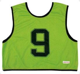 ミカサ(MIKASA) ゲームジャケット ハーフタイプ10枚セット 蛍光グリーン GJH10KG