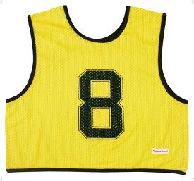 ミカサ(MIKASA) ゲームジャケット ハーフタイプ10枚セット 蛍光イエロー GJH10KY