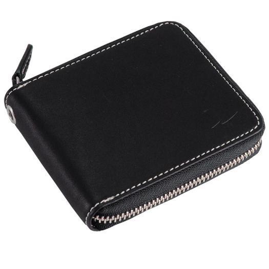 MIZUNO(ミズノ) グラブ革ファスナー付二つ折り財布(カラーステッチ) 野球 G革財布 メンズ 1GJYG03200