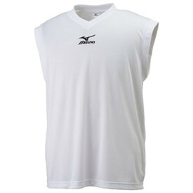 MIZUNO ミズノ ノースリーブシャツ ホワイト×ブラック 32JA617001