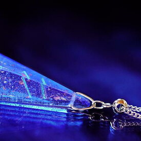 『BLUE COMET CRYSTAL』 ガラスアクセサリー ネックレス・ペンダント 立体造形タイプ