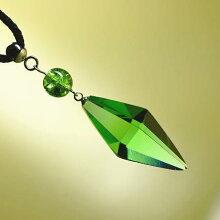 『StandardDreamblue〜緑光〜』ガラスアクセサリーネックレス・ペンダント立体造形タイプ