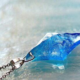 『Aqua diamond star』 ガラスアクセサリー ネックレス・ペンダント 四角・多角・星タイプ