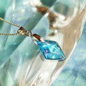 『Turquoise Diamond』 ガラスアクセサリー ネックレス・ペンダント 四角・多角・星タイプ