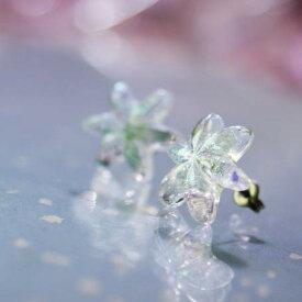 『Snow flower 〜 Mysterious bright 〜』 ガラスアクセサリー ピアス・イヤリング
