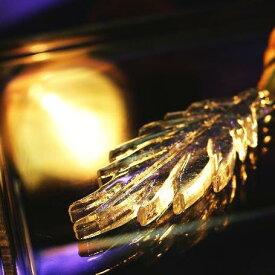 『Indian feather』 ガラスアクセサリー ネックレス・ペンダント 羽根タイプ