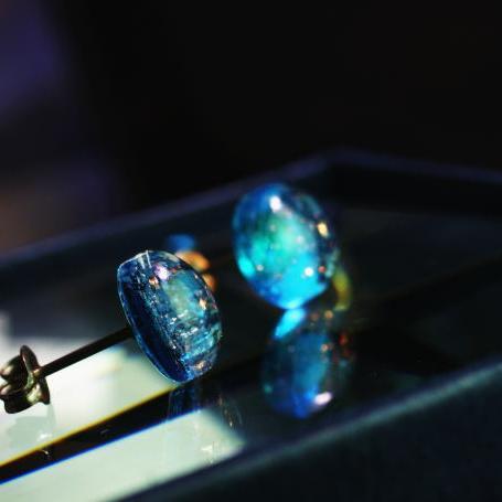 『海の煌き』 ガラスアクセサリー ピアス・イヤリング